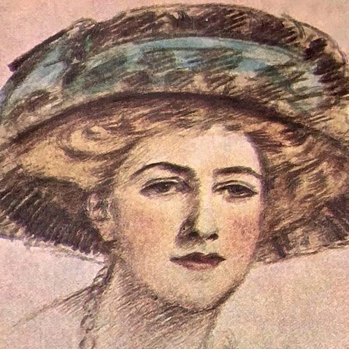 Dibujo de Agatha Christie